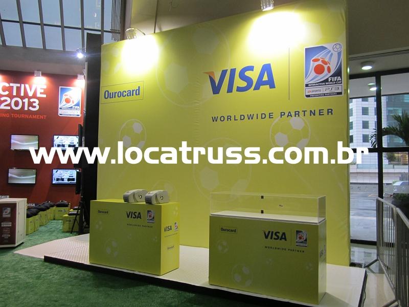 Montagem de Stands Visa em Box Truss