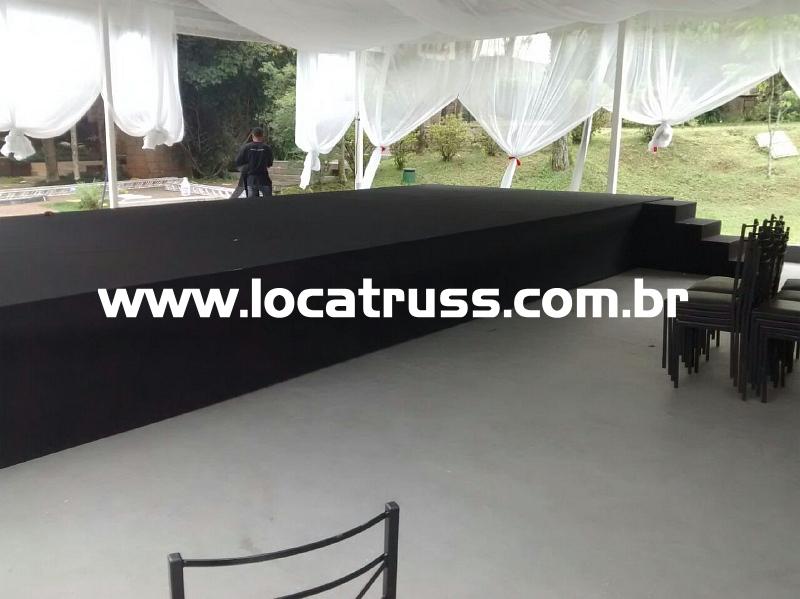 palco 10x3 com praticáveis
