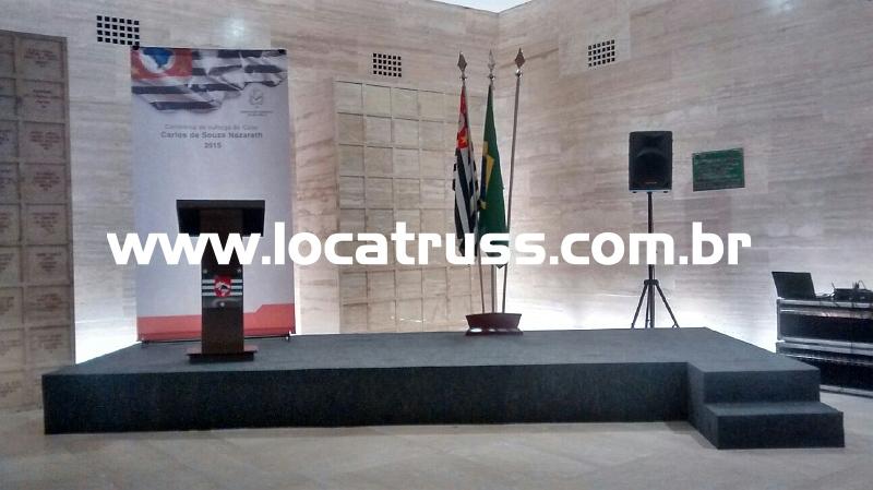 locação de palco para evento